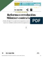 Reforma o Revolución_ Müntzer Contra Lutero - Edición General - El Salto