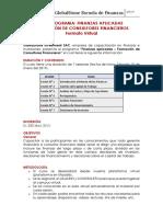 Ficha Técnica Del Curso FINANZAS APLICADAS Virtual