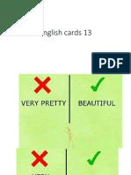English Cards 13