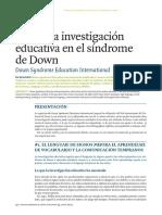 Investigaciones educativas sobre el Síndrome de Down.