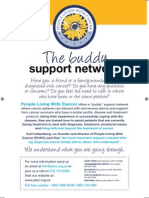 Cancer Buddy Flyer & Poster 2009