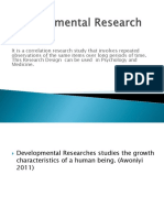 Developmental Research Design