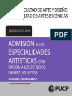 ADMISIÓN A LAS ESPECIALIDADES ARTÍSTICAS(NOV)_POSTULANTE