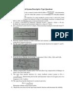 Control System Descriptive Type Questions