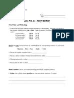 blueprint and quiz assignment - portfolio