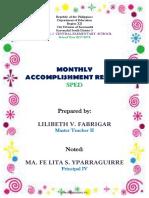 Accomplishment Report 2017- 2018- Sped