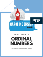 3 - Numbers Ordinals
