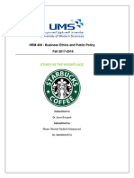 HRM 400 - Business Ethics and Public Policy