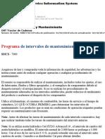 Programa de Intervalos de Mantenimiento de Caterpillar Topadora D8T