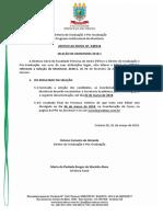 Modelo de Edital de Monitoria
