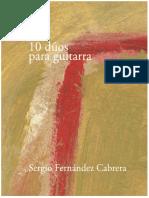 10 dúos para guitarra - Sergio Fernández Cabrera - Libro.pdf