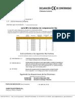 Declaracion Conformidad Baterias Fijas BFJ