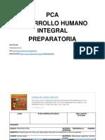 Pca Desarrollo Humano Integral Inicial