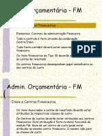 FM-Admin. Orçamentária