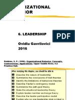 Robbins 2011 Ch6. Leadership