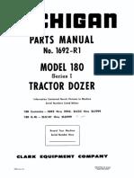 265. Katalog rezervnih dijelova za Michigan buldozer model 180.PDF