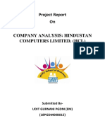 Hcl Company Analysis_udit Gurnani