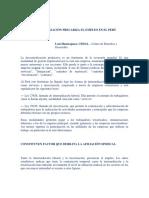 La Tercerización Precariza El Empleo en El Perú