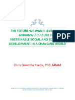 Leveraging Avhianwu Culture for Sustainable Development