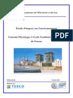Etude d impact sur l environnement. Centrale Electrique à Cycle Combiné Mono-arbre de Sousse.pdf