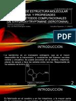 Validación de Estructura Molecular de Serotonina y Propiedades