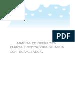 Manual de Operacion Planta Con Suavizador