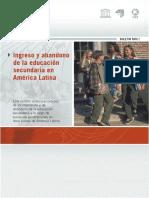 Ingreso y abandono de la educación secundaria en América Latina