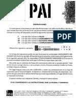 Test PAI cuestionario