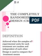 The Completely Randomized Design (CRD)