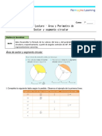Guía Ejercicios Area y Perimetro Sector y Segmento Lecture Matematica