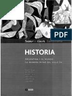 Historia Arg. y el mundo, la primera mitad Siglo XX  - Santillana.pdf