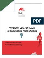 Paradigma, Estructuralismo y Funcionalismo 2014