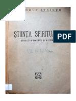 Rudolf Steiner - Stiinta spirituala - prima carte de antroposofie publicata in Romania