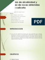 Análisis de Alcalinidad y Acidez de Rocas Obtenidas 222