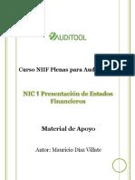 Guia NIC 1, Presentación de Estados Financieros