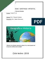 Planificacion 2018 1 Año Geografia