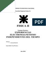 Experiencias Electromagnetismo Independientes Del Tiempo Tp 7