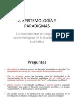 2. EPISTEMOLOGÍA Y PARADIGMAS