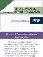 Konsep Dan Proses Manajemen Keperawatan