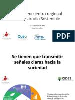 Presentacion General - Encuentro Regional de Desarrollo Sostenible