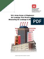 USACE ASTM E 779 Air Leakage Test Protocol