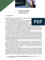 Informe El Factor Conciencia Aplicado Al Yo Soy Silvio Santone