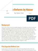 Agrarian Reforms by Nasser