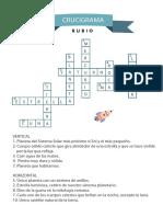 Crucigrama Cuadernos Rubio Espacio Solucion