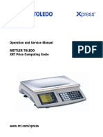 Mettler Toledo XRT Price Computing Scale