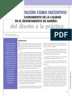 01 La Acreditación Como Incentivo Para El Mejoramiento de La Calidad en El Departamento de Nariño Del Diseño a La Práctica