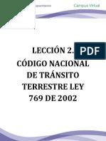 Lección 2. Ley 769 de 2002