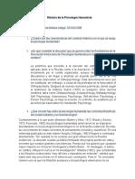 Historia de La Psicología Humanista