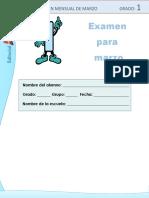 Examen 1ro y 2do Preescolar