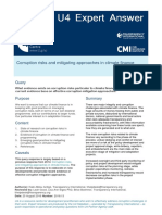 Corruption Risks and Mitigating Approaches in Climate Finance 2016